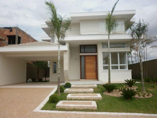 80 fachadas de casas modernas imperd vel for Frentes de casas pintadas