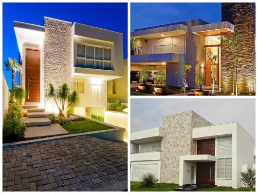 Fachadas de casas modernas 90 inspira es para se for Casas en ele modernas