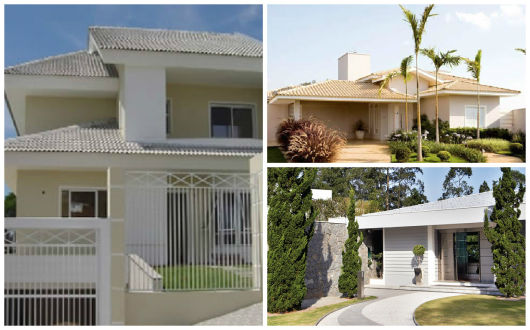 modelos de casa com telhado visível