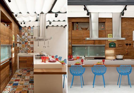 Dicas de combinações de cores para cozinha moderna rústica