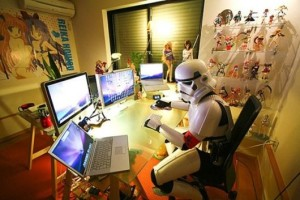 home office estilo geek