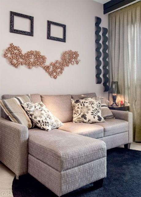 Sofa Para Sala Pequena De Tv ~ sala pequena decorada