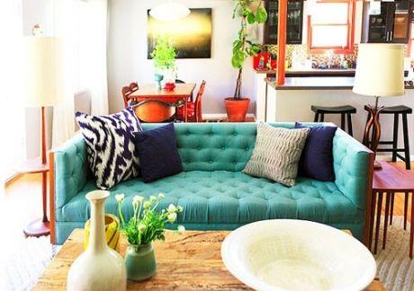 19 modelos de sof s como escolher guia completo for Sala de estar com um sofa