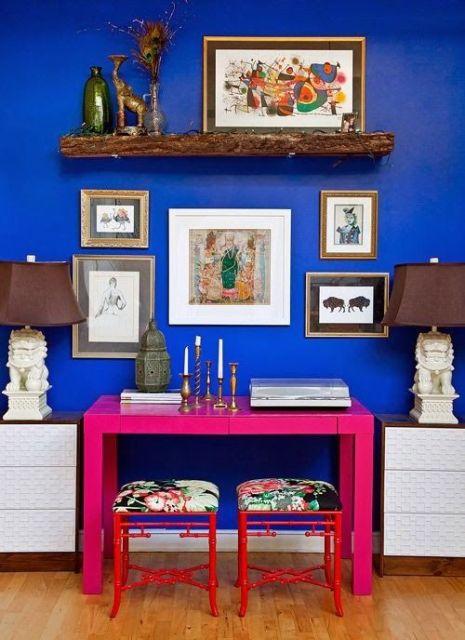 Paredes Pintadas De Azul Great Una Pared Azul Turquesa With Paredes - Paredes-pintadas-de-azul