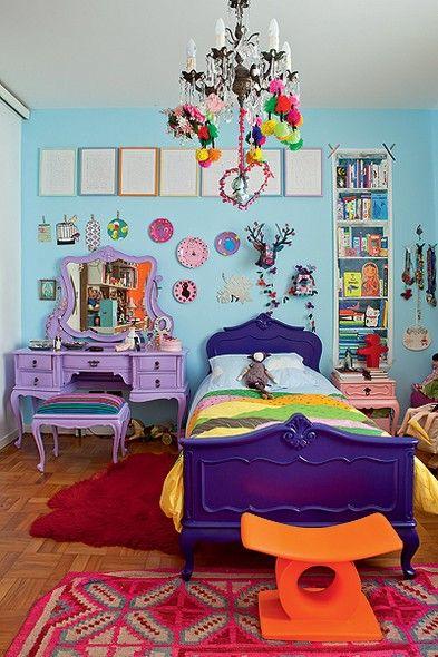 PAREDE AZUL 30 Dicas, Tons e Fotos Imperdíveis! ~ Quarto Rosa Azul E Amarelo