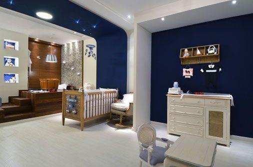 Quarto Casal Azul Marinho E Branco ~ PAREDE AZUL 30 Dicas, Tons e Fotos Imperd?veis!