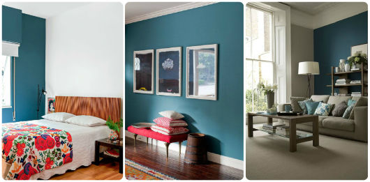 Sala De Estar Com Uma Parede Azul ~ PAREDE AZUL 30 Dicas, Tons e Fotos Imperdíveis!