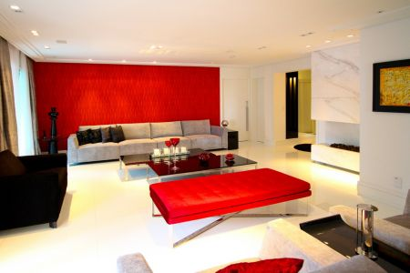 sala moderna e sofisticada