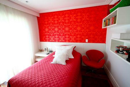 decoração quarto feminino vermelho