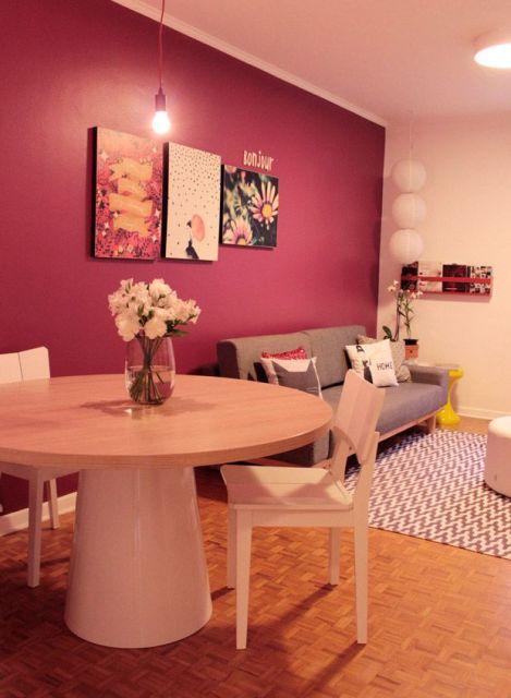 Sala De Tv Cor Verde ~ sala de jantar com sala de T