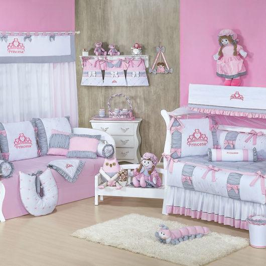 roupa cama rosa e lilás