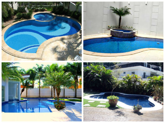 piscinas curvas e arredondadas