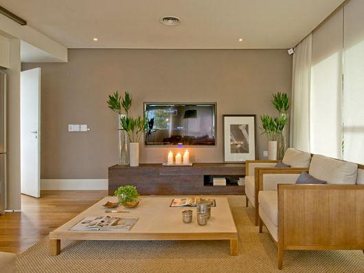 70 tapetes para sala de estar e tv imperd veis - Telas decorativas para paredes ...