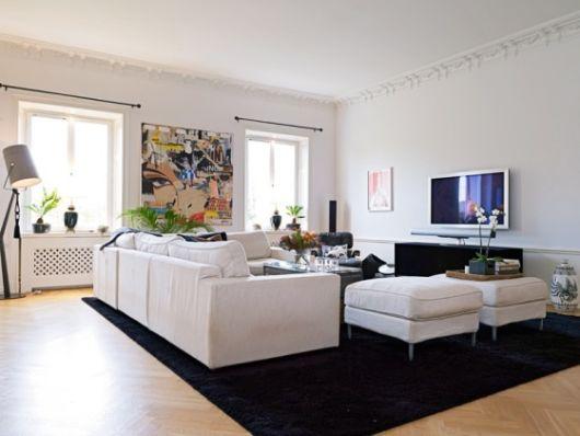 Sala Pequena Com Tapete Preto ~ sala com tapete preto