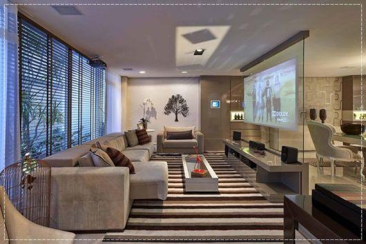 Tamanho De Tapete Para Sala De Tv ~  de estampa amplia o espaço  E pode ser o ponto de cor da decoração