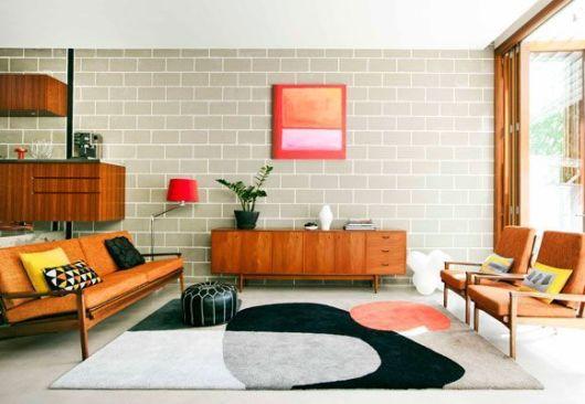 70 tapetes para sala de estar e tv imperd veis for Sala de estar retro vintage