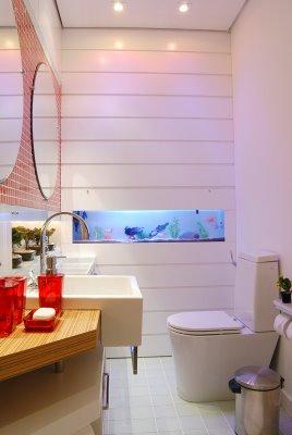lavabo com aquário