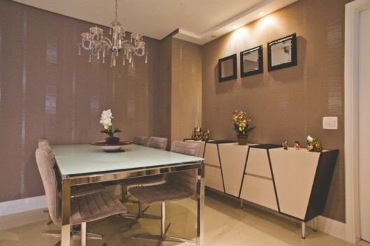 Como Decorar Buffet Sala De Jantar ~ antiga vitrola foi usada na decor como um buffet e ficou como apoio de