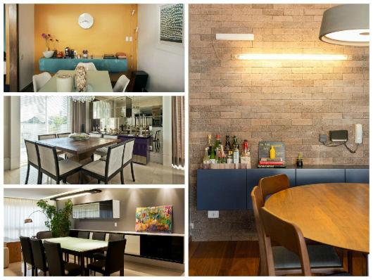 Buffet Sala De Jantar Laca ~ mistura de moderno e retrô aparecem nessa decor com tons suaves, e