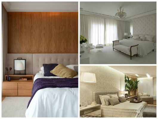 Cabeceira para cama 60 modelos fotos tutoriais for Modelos de cama