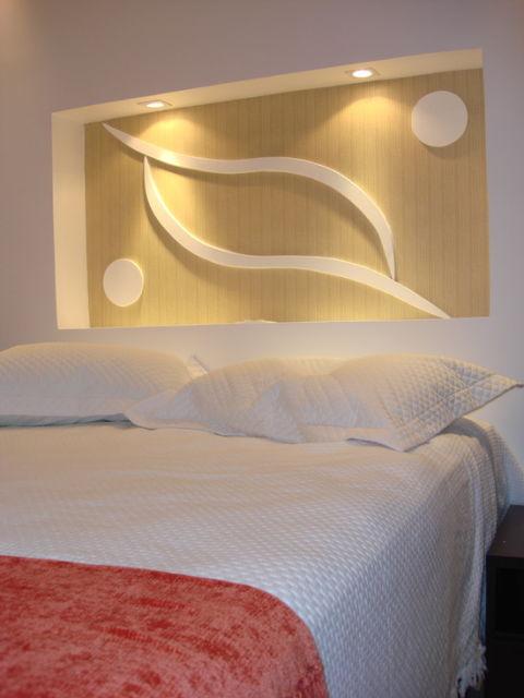 quarto de casal com cama box