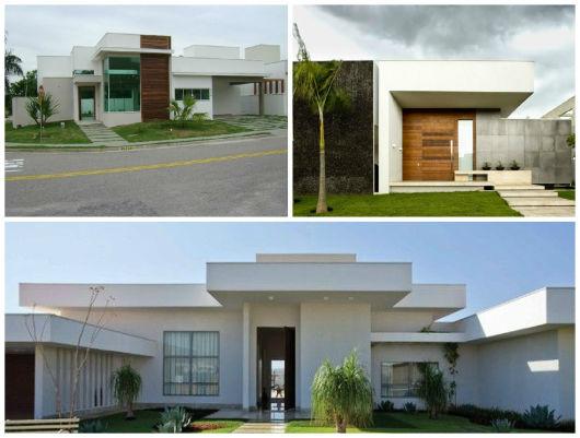 casas modernas com telhado embutido