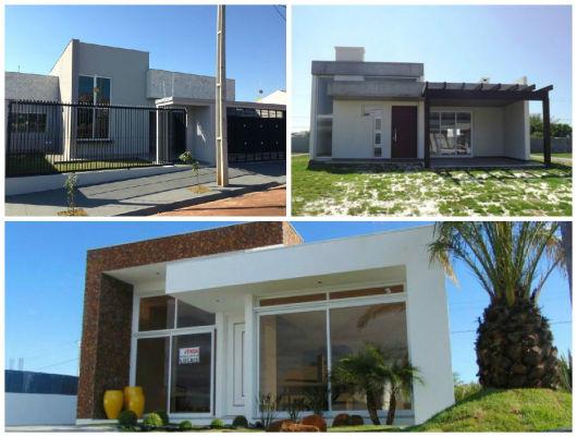 fachadas de casas contemporâneas