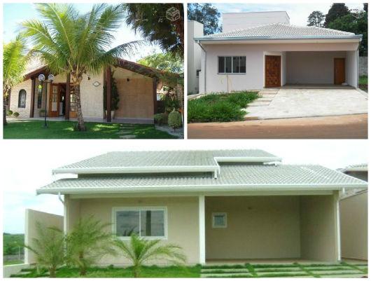 fachadas de casa com telhado aparente