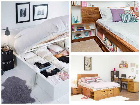 cama com nichos
