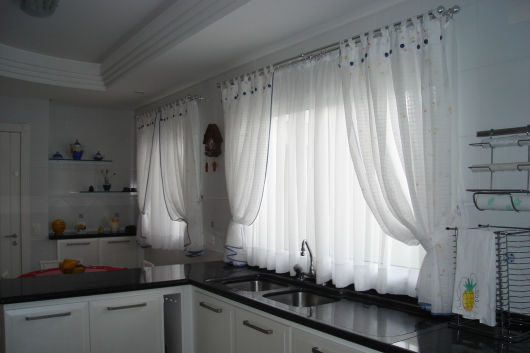 50 cortinas para cozinha fotos e como fazer - Modelos de cenefas para cortinas ...