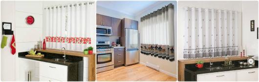 cozinhas com cortina