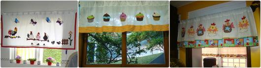 cortinas de patchwork para cozinha