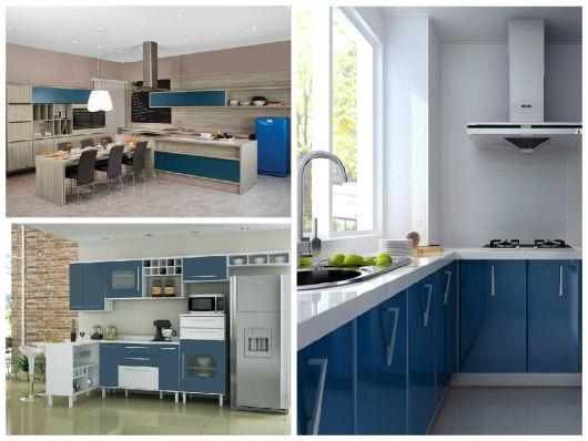 azul petróleo na cozinha