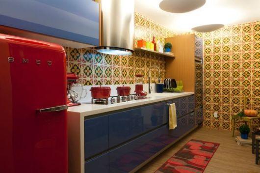 piso de madeira na cozinha