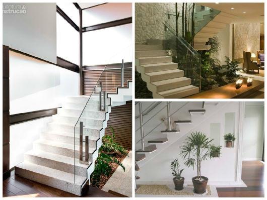 Jardim embaixo da escada como fazer fotos e dicas for Huecos de escaleras modernos