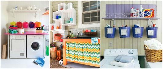 LAVANDERIA PEQUENA: Como organizar e decorar!