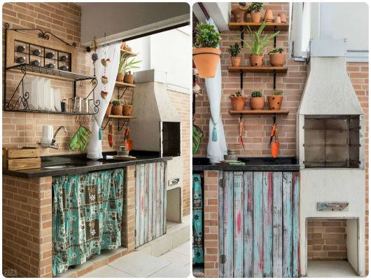 decoração rústica varanda