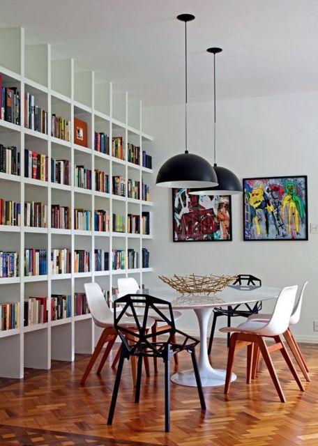 80 modelos de estantes como fazer fotos dicas for Mesa biblioteca