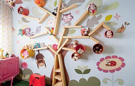estante árvore infantil