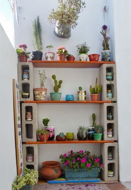 prateleiras para plantas
