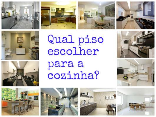 como escolher piso cozinha