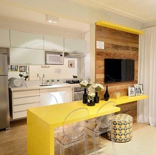 piso para cozinha e sala integradas
