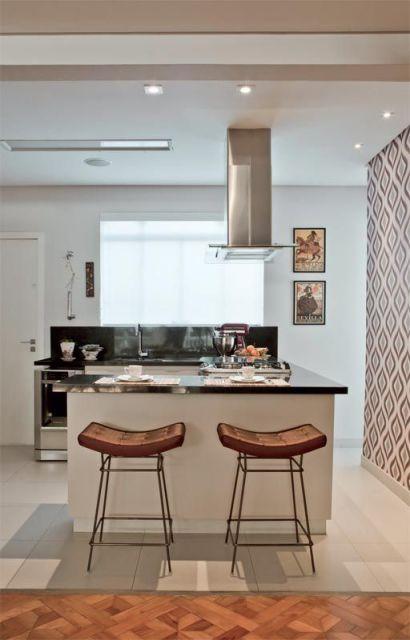 parede colorida cozinha