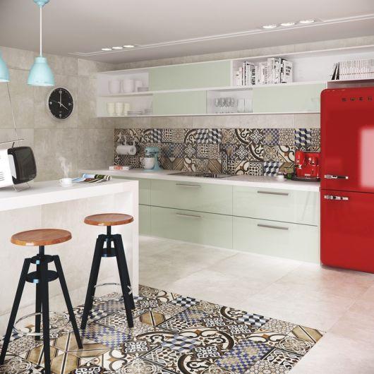 azulejo hidráulico cozinha