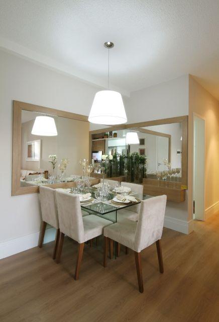Espelho Para Sala Pequena ~ mesa de vidro é ideal para ambientes pequenos