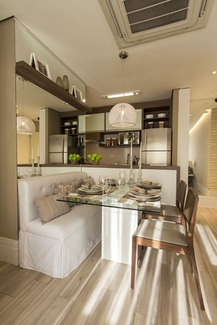 Moveis Para Sala De Jantar Pequena ~  da cozinha americana serve como apoio para servir as refeições