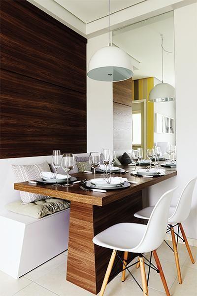 Sala de jantar pequena aproveitamento e decora o for Mesas para apartamentos pequenos