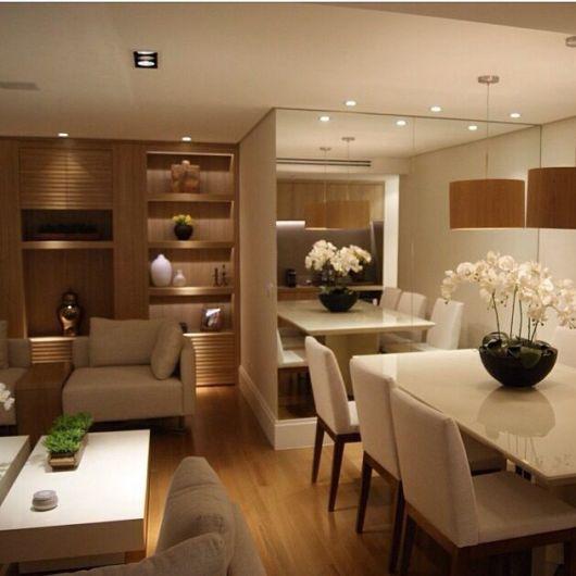 Decoracao Sala Pequena Com Espelho ~ fotos de decoração de sala de jantar pequena com espelho
