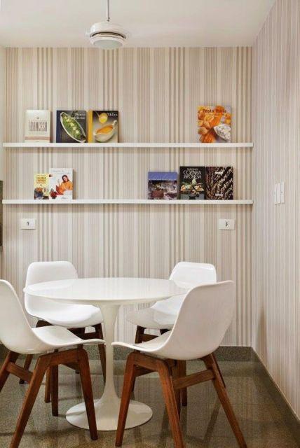 Sala De Jantar Com Vidro Na Parede ~ Fotos de decoração de sala de jantar pequena