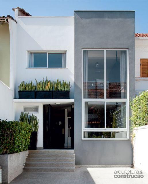 60 sobrados pequenos projetos incr veis dicas fotos for Casas modernas de 70m2
